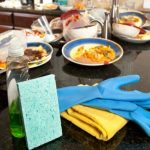 La spugna utilizzata in cucina